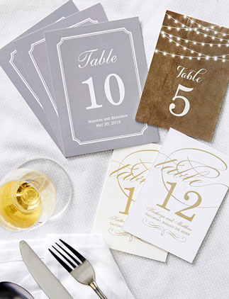 Table Card Numbers